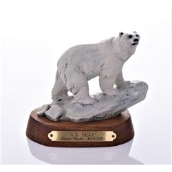 Daniel Parker Bronze Sculpture Titled Ice Bear,