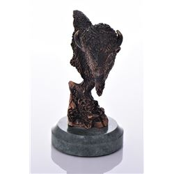 Kitty Cantrell, Bronze Sculpture Titled Buffalo