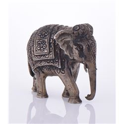 Antique Burmese Sterling Silver Elephant, weighing