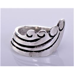 Antique Sterling Silver Spoon Ring.