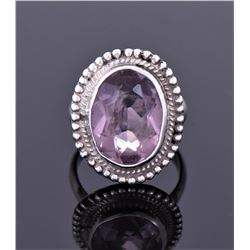 Amethyst Sterling Silver Ring. Ring Size Shown On