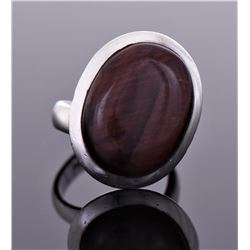Vintage Oval Stone Ring Size Shown On Last Photo.