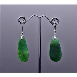 Green Dragon Vein Agate Sterling Silver Dangling