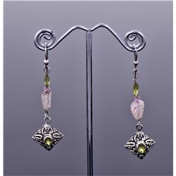 Multi Stone Sterling Silver Earrings With Amethyst