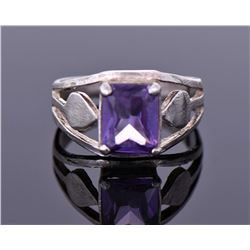 Vintage Amethyst Sterling Silver Ring.