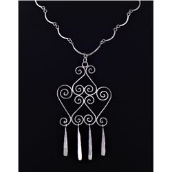 Vintage Sterling Silver Intricate Dangling Design