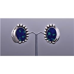 Azurite Sterling Silver Earrings.