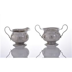 Antique Sterling Silver Sugar Bowl.