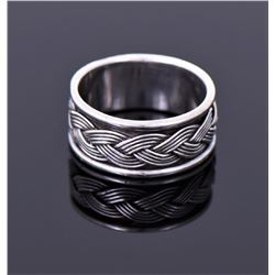 NF, Sterling Silver Weave Ban Ring.