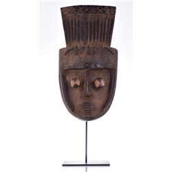 African Grebo Wood Mask, ivory coast.