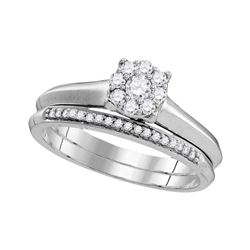 0.33 CTW Diamond Bridal Wedding Engagement Ring 10KT White Gold - REF-33F8N
