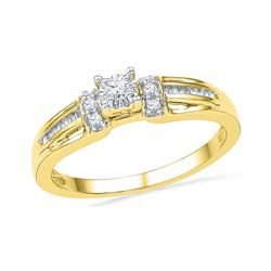 0.20 CTW Diamond Solitaire Bridal Ring 10KT Yellow Gold - REF-22N4F