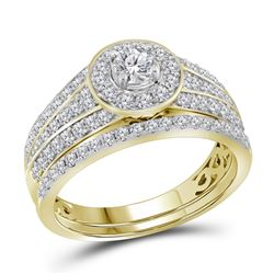 1 CTW Diamond EGL Bridal Wedding Engagement Ring 14KT Yellow Gold - REF-119W9K