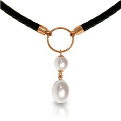 Genuine 6 ctw Pearl Necklace Jewelry 14KT Rose Gold - REF-47A8K