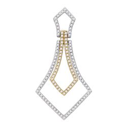 0.40 CTW Diamond 2-tone Pendant 14KT Two-tone Gold - REF-32K9W