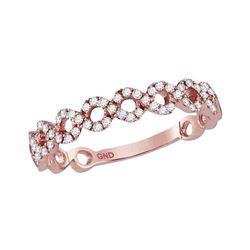 0.20 CTW Diamond Circle Stackable Ring 10KT Rose Gold - REF-22Y4X