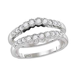 0.50 CTW Diamond Ring 14KT White Gold - REF-64W4K