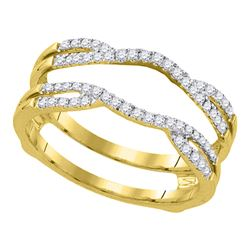 0.33 CTW Diamond Wrap Ring 14KT Yellow Gold - REF-48K7W