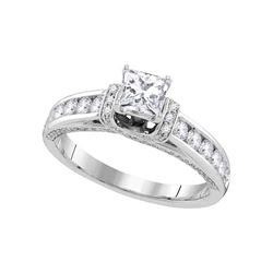 1.25 CTW Princess Diamond Solitaire Bridal Engagement Ring 14KT White Gold - REF-206Y9X