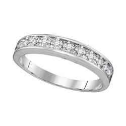 0.10 CTW Diamond Ring 10KT White Gold - REF-14Y9X
