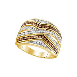 0.50 CTW Brown Color Diamond Ring 10KT Yellow Gold - REF-37Y5X