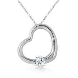 Genuine 0.25 ctw Diamond Anniversary Necklace Jewelry 14KT White Gold - REF-78Z9N