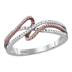 0.15 CTW Diamond Rope Fashion Ring 10KT White Gold - REF-22Y4X
