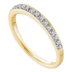 0.12 CTW Prong-set Diamond Slender Ring 14KT Yellow Gold - REF-22K4W