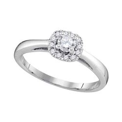 0.33 CTW Diamond Bridal Wedding Engagement Ring 10KT White Gold - REF-44H9M