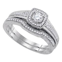 0.33 CTW Diamond Bridal Wedding Engagement Ring 10KT White Gold - REF-56X2Y