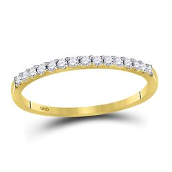 0.15 CTW Diamond Stackable Wedding Ring 14KT Yellow Gold - REF-14H9M