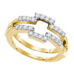 0.50 CTW Diamond Square Wrap Ring 14KT Yellow Gold - REF-59H9M