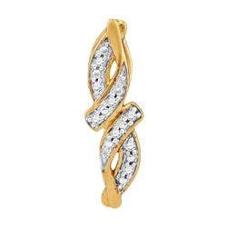 0.02 CTW Diamond Bypass Infinity Pendant 10KT Yellow Gold - REF-4N5F