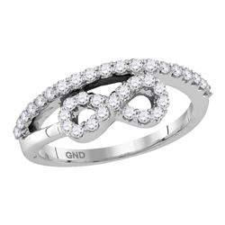 0.51 CTW Diamond Woven Infinity Ring 10KT White Gold - REF-37F5N