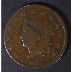 1831 LARGE CENT, VG