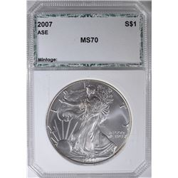 2007 AMERICAN SILVER EAGLE PCI PERFECT GEM BU