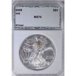 2008 AMERICAN SILVER EAGLE PCI PERFECT GEM BU