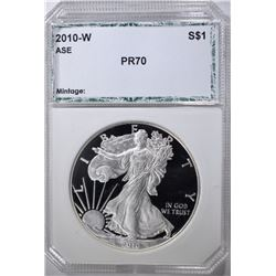 2010-W AMERICAN SILVER EAGLE, PCI PERFECT GEM PR