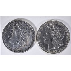 1897-O XF & 1898-O AU MORGAN DOLLARS