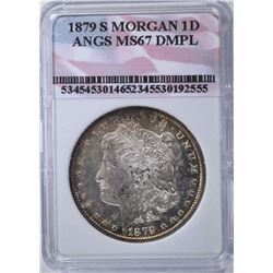 1879-S MORGAN DOLLAR ANGS SUPERB GEM DMPL