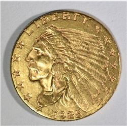 1925-D $2 1/2 GOLD INDIAN  CH BU