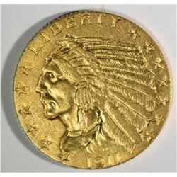 1911-S $5 GOLD INDIAN  CH BU