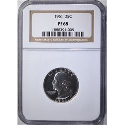 1961 WASHINGTON QTR NGC PF68