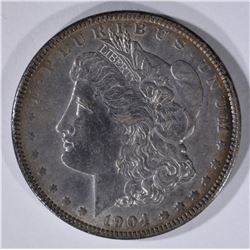 1904 MORGAN DOLLAR AU/UNC