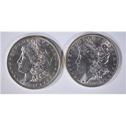 1885 & 1884-O MORGAN DOLLARS