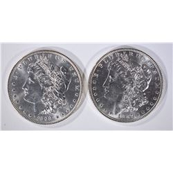 1887 & 1898 MORGAN DOLLARS