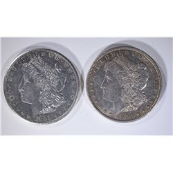 1900-S XF/AU & 1899-O AU MORGAN DOLLARS