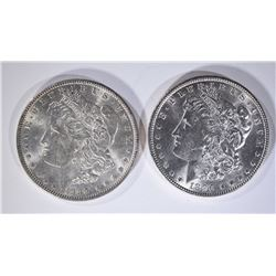 1889 & 1896 MORGAN DOLLARS CHBU