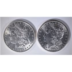 1898-O & 1890 MORGAN DOLLARS CHBU