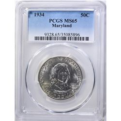 1934 MARYLAND COMMEM HALF PCGS MS-65